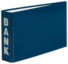 10 Bankordner 140x250mm Ordner für Kontoauszüge / Farbe: blau