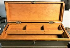 Antique Carpenters Chest Tool Box With Tray