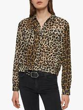Allsaints Adeliza Leppo Shirt Leopard Print Shirts UK X Small MRRP £128.00