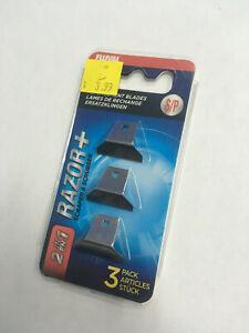Fluval  RAZOR+ 2-IN-1 Scraper, 3 Pack repalcement blades, Small