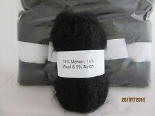 Mohair laine fil 10 x 50 g boules noir 78% mohair Double Tricot