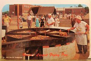 Delaware DE Delmarva Peninsula Eastern Shore Chicken Festival Postcard Old View