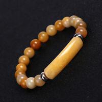 Fashion Tiger Eye Natural Stone Beaded Bracelet Women Elasticity Bangle Jewelry