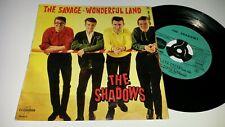 THE SHADOWS -THE SAVAGE -RARE 1962 FRENCH COLUMBIA ESDF 1404 4 Trk EP -Ex / Vg++