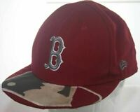 BOSTON RED SOX Hat New Era 59Fifty RARE MLB Logo Baseball Cap Fitted Size 7 1/2