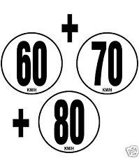 3 Limitation de Vitesse Autocars Tracteur Poids lourd 60+70+80 KM/H 3 adhésifs