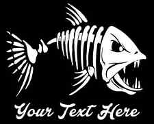 Customized Fish Bones Skeleton - Fishing Truck Van Window Vinyl Decal Sticker