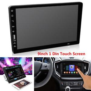 "9"" 1Din Car Stereo Multimedia MP5 Player Bluetooth USB FM Radio HD Touch Screen"