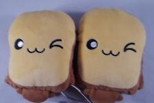 Toast USB Hand Warmers Cute Heating Gloves Half Wearable Fingerless Yellow 5V