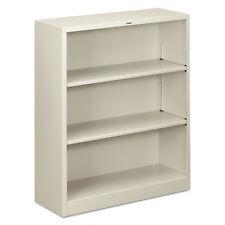 Hon Metal Bookcase Three-Shelf 34-1/2w x 12-5/8d x 41h Light Gray S42Abcq