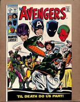 Avengers #60, VF- 7.5, Wedding of Yellowjacket and Wasp; Hawkeye, Black Panther