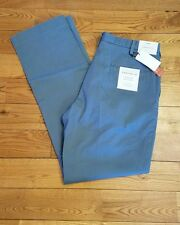 NWT Mens PERRY ELLIS Portfolio Blue Superior Soft Twill Modern Fit Pants 34X30