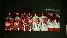WINTER CANDY APPLE Bath&BodyWorks MIST  LOTIONS  CREAM SHOWER GELS NEW ALL 8 lot