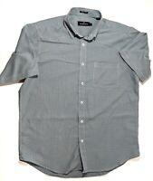 Bugatchi Uomo Mens Short Sleeve Plaid Button Front Shirt Size Large