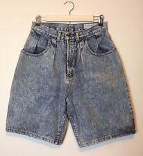Lawman Jean Shorts Denim Womens Size 11 Vintage 90's High Waisted Acid Wash Long