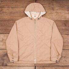 """Mens Vintage Europa Sport 60s Beige Reversible Hooded Jacket Medium 40"""" XR 8325"""