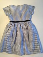 NEW Girl's OLIVE JUICE Boutique Blue & White GINGHAM Check DRESS Size 5 Easter