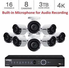 NEW Lorex 16 Channel HD PoE NVR Security 3TB + 8 x 4K IP Ultra HD Audio Cameras