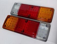 2 x 12V LED FEUX LAMPES ARRIERES CAMION REMORQUE FOURGON CARAVANE CAMPER *89 LED
