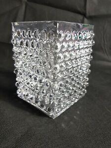 Beautiful Square Hobnail Glass Vase
