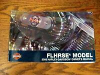 2008 Harley-Davidson FLHRSE4 Owner's Owners Manual Screamin Eagle Road King