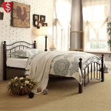 Full Size Platform Bed Frame Furniture Headboard Slat Footboard Bedroom Metal