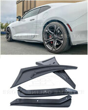 Front Rear Splash Mud Flaps Fits 16-Up Camaro TEXTURE BLACK GM Extended Guards