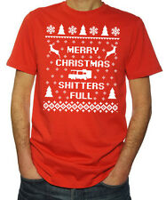 Merry Christmas Shitter's Full Party Festive Season Vacation X-mas Red T Shirt