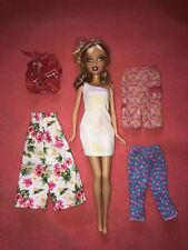 Rare Barbie My Scene Swappin' Styles Kennedy Doll W/ Extra Clothes Lot By Mattel
