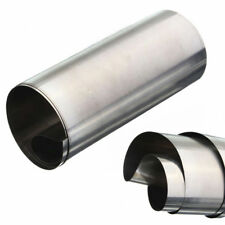 Silver Stainless Steel Fine Plate Sheet Foil 0.1mm x 100mm x 1000mm Kit