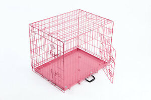 2NDS Dog Puppy Metal Training Cage Pink 20inch 6805