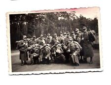 Original WORLD WAR TWO PHOTOGRAPH LARGE GROUP of SOLDIERS German USA American