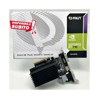 SCHEDA VIDEO NVIDIA GEFORCE GT 710 2GB DDR3 GT710 LOW PROFILE LP SCHEDA GRAFICA