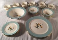 VTG 25 Piece Viking International Wheat Pattern Dinnerware Mid Century Plates