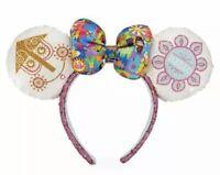 Disney Parks It's a Small World Mickey Minnie Ears & Bow Headband New With Tags