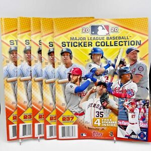 2020 Topps MLB Sticker Collection Book (Lot of 5)