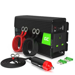 GC® Pure Sine Wave 500W/1000W 12V 240V Car Power Inverter Converter with UK Plug