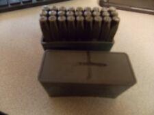 Letter  Stamp Punch Die Steel Metal Stamping Set swiss made