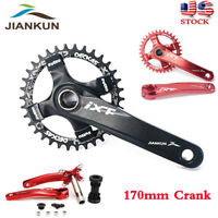 US MTB Road Bike Crankset 104BCD 170mm Crank Arm Bicycle Chainset Chainring BB