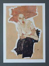 Egon Schiele Lichtdruck Lithograph Signed Die Hämische - The scournful one, 1910