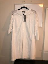 Daisy Fuentes White Embroidered Dress, NWT, SIZE 14!