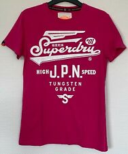 T-shirt - SUPERDRY - rose - taille S - TBE