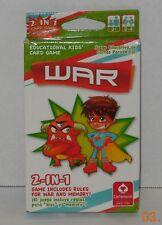Cartamundi 2 in 1 Educational Kids Card Game War and Memory 100% Complete