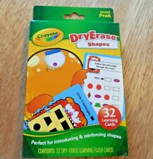 """NEW!  Crayola Dry Erase 32 Learning Flash Cards of  """"Shapes""""  for Grade Pre-K"""