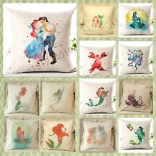 little mermaid ariel disney princess Cushion Cover Pillow Case Home Decor Gifts