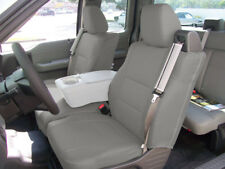FORD F-150 04-08 S.LEATHER FRONT CUSTOM FIT SEAT COVER BUILT IN SEAT BELT GREY