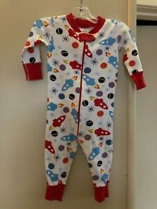 HANNA ANDERSSON red rockets organic cotton sleeper  70  9 to 18 months US  AS IS