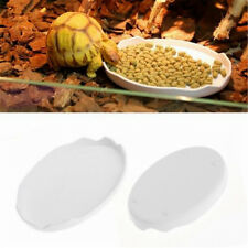3X Reptile Water Dishes & Food Bowls for Turtle Tortoise Lizard Spider 80.5*60MM