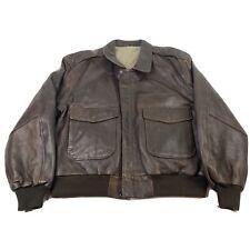 Vintage MIRAGE Leather Jacket Aviation Distressed  Motorcycle Jacket 50 Men's