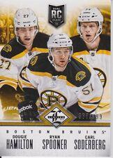2012-13 Limited Rookie Redemption Bruins #2 Hamilton/Spooner/Soderberg /499